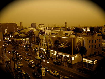 Photograph - Walk Of Fame Hollywood In Sepia by Monique's Fine Art