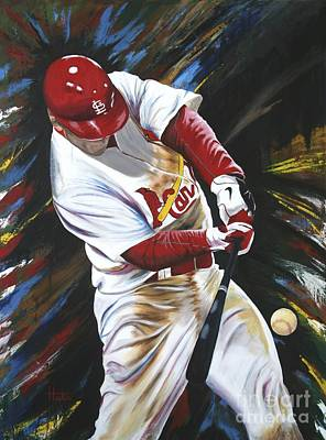Baseball Art Painting - Walk Off by Terry  Hester