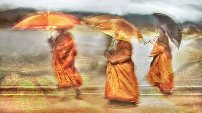 Buddhist Photograph - Walk The Line by The Jar -
