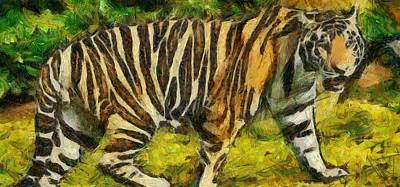 The Tiger Painting - Walk The Tiger by Georgi Dimitrov