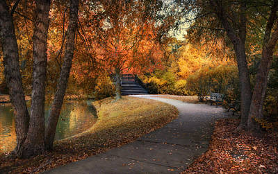 Photograph - Walk Through Autumn by Robin-Lee Vieira