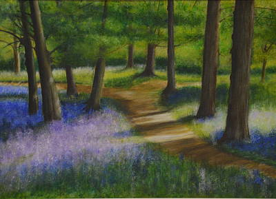 Painting - Walk Through The Bluebells by Lynn Hughes