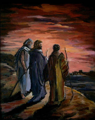 Emmaus Painting - Walk To Emmaus by Carole Foret
