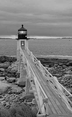 Photograph - Walk To The Light In Black And White by Paul Mangold