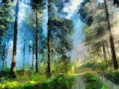 Impressionistic Landscape Mixed Media - Walk Towards Spring by Georgiana Romanovna