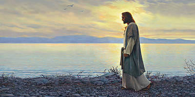 Sea Wall Art - Painting - Walk With Me by Greg Olsen