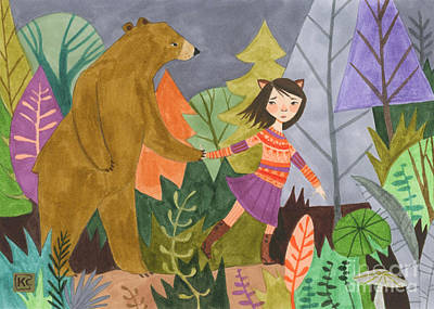 Children Book Illustration Drawing - Walk With Me by Kate Cosgrove