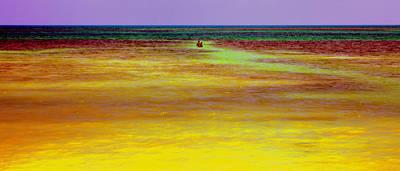 Follow Me To The Deep Blue Sea Art Print