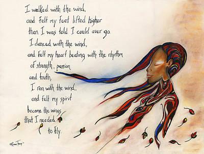 Walk With The Wind Art Print