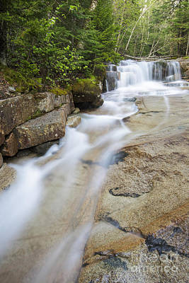 Walker Brook Cascades - Franconia Notch State Park New Hampshire Print by Erin Paul Donovan