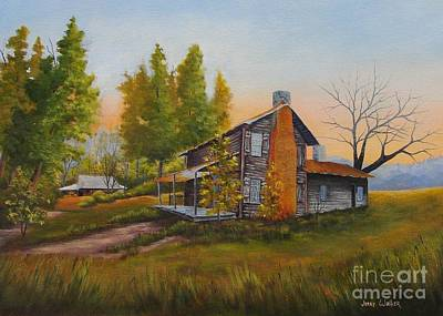 Painting - Walker Homeplace #3 by Jerry Walker