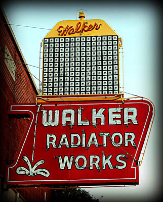 Car Repairs Photograph - Walker Radiator Works Sign by Stephen Stookey