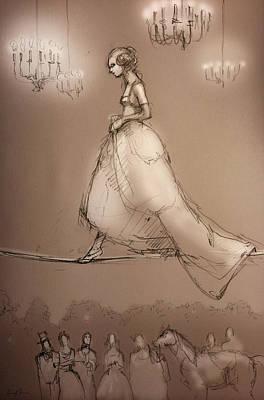 Walking A Fine Line Art Print by H James Hoff