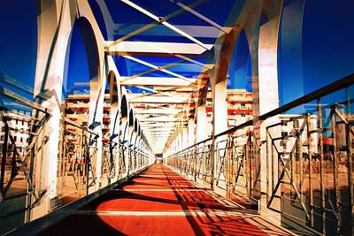 Walking Bridge Civitavecchia Italia Art Print
