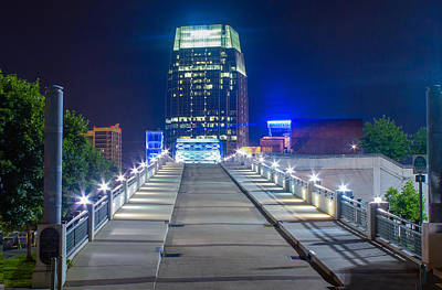Photograph - Walking Bridge In Blue by Robert Hebert