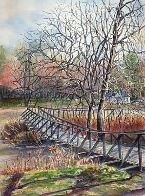 Walking Bridge Art Print by Janet Felts