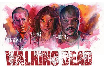 Walking Dead Dead Art Print by Ken Meyer
