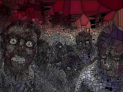 Etc Digital Art - Walking Dead by HollyWood Creation By linda zanini