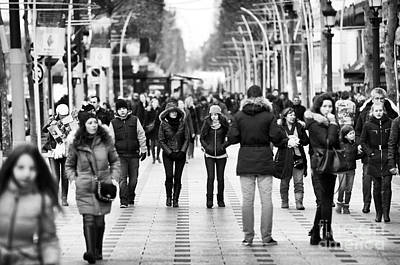 Photograph - Walking Down Champs-elysees by John Rizzuto