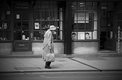 Raincoat Photograph - Walking Down The Street by Chevy Fleet