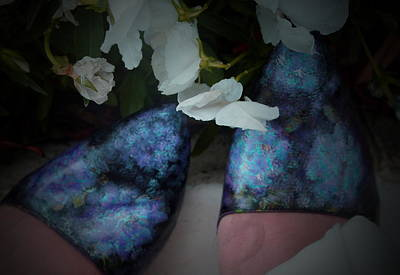 Walking Hydrangeas Art Print by Laura  Grisham