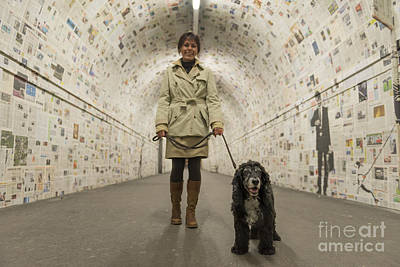 Circle Skirt Photograph - Walking In A Tunnel by Mats Silvan