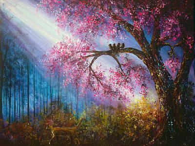 Heaven Painting - Walking In Shadows by Ann Marie Bone