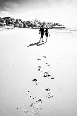Walking In The Beach Art Print by William Voon
