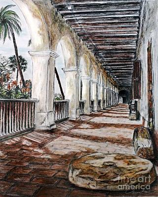 Church Pillars Drawing - Walking In The Light  by Danuta Bennett