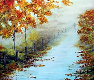 Painting - Walking In The Mist by Anna-maria Dickinson