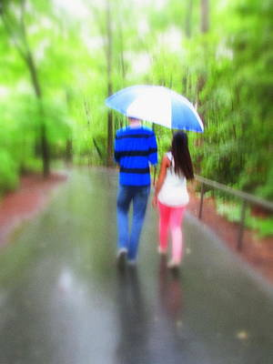 Photograph - Walking In The Rain by Diannah Lynch