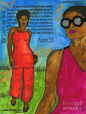 Walking In The Spirit Print by Angela L Walker