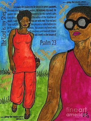 Mixed Media - Walking In The Spirit by Angela L Walker