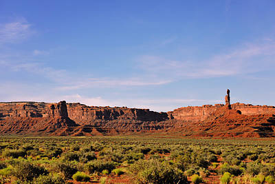 Walking In The Valley Of The Gods Art Print by Christine Till