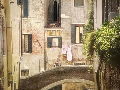 Photograph - Walking In Venice by Nicola Nobile