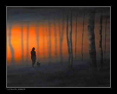 Digital Art - Walking Kurt by Pedro L Gili
