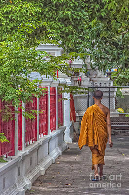 Neophyte Photograph - Walking Monk by Antony McAulay