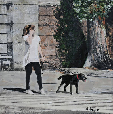Walking My Mistress Art Print by Heather Douglas