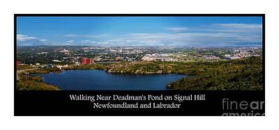 Labrador Digital Art - Walking Near Deadman's Pond On Signal Hill by Barbara Griffin
