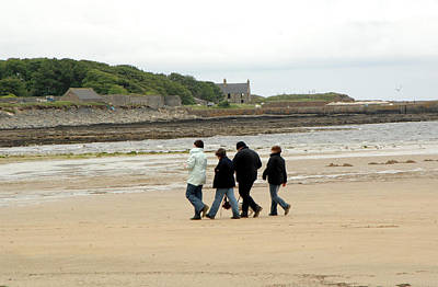 Water Dog Photograph - Walking On A Beach by Public Health England