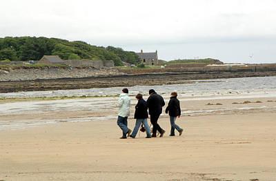 Walking On A Beach Art Print by Public Health England