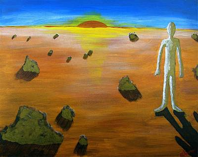 Painting - Walking On Mars #3 by Mario MJ Perron