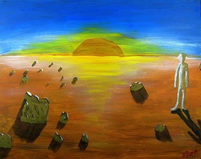 Painting - Walking On Mars #4 by Mario Perron