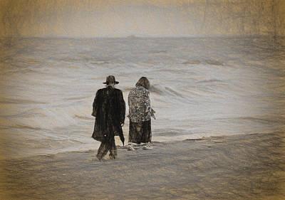 Pasta Al Dente - Walking on the beach by Les Palenik