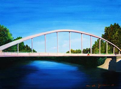 Painting - Walking On The Bridge  by Misuk Jenkins