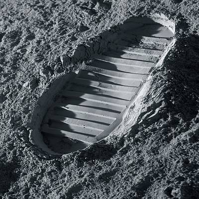 Astronauts Photograph - Walking On The Moon by Detlev Van Ravenswaay