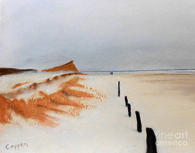 Pastel - Walking On The Outermost Beach by Robert Coppen