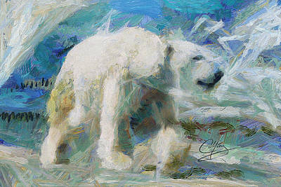 Art Print featuring the painting Cold As Ice by Greg Collins