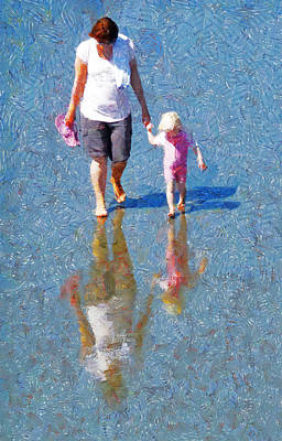 Walking On Water Print by Steve Taylor