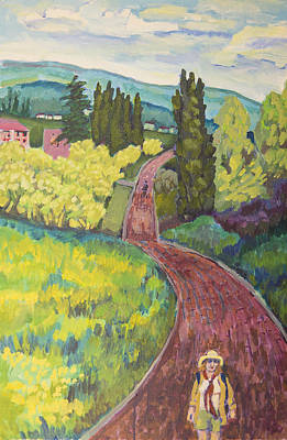 Painting - Walking Path In Tuscany by Doris  Lane Grey